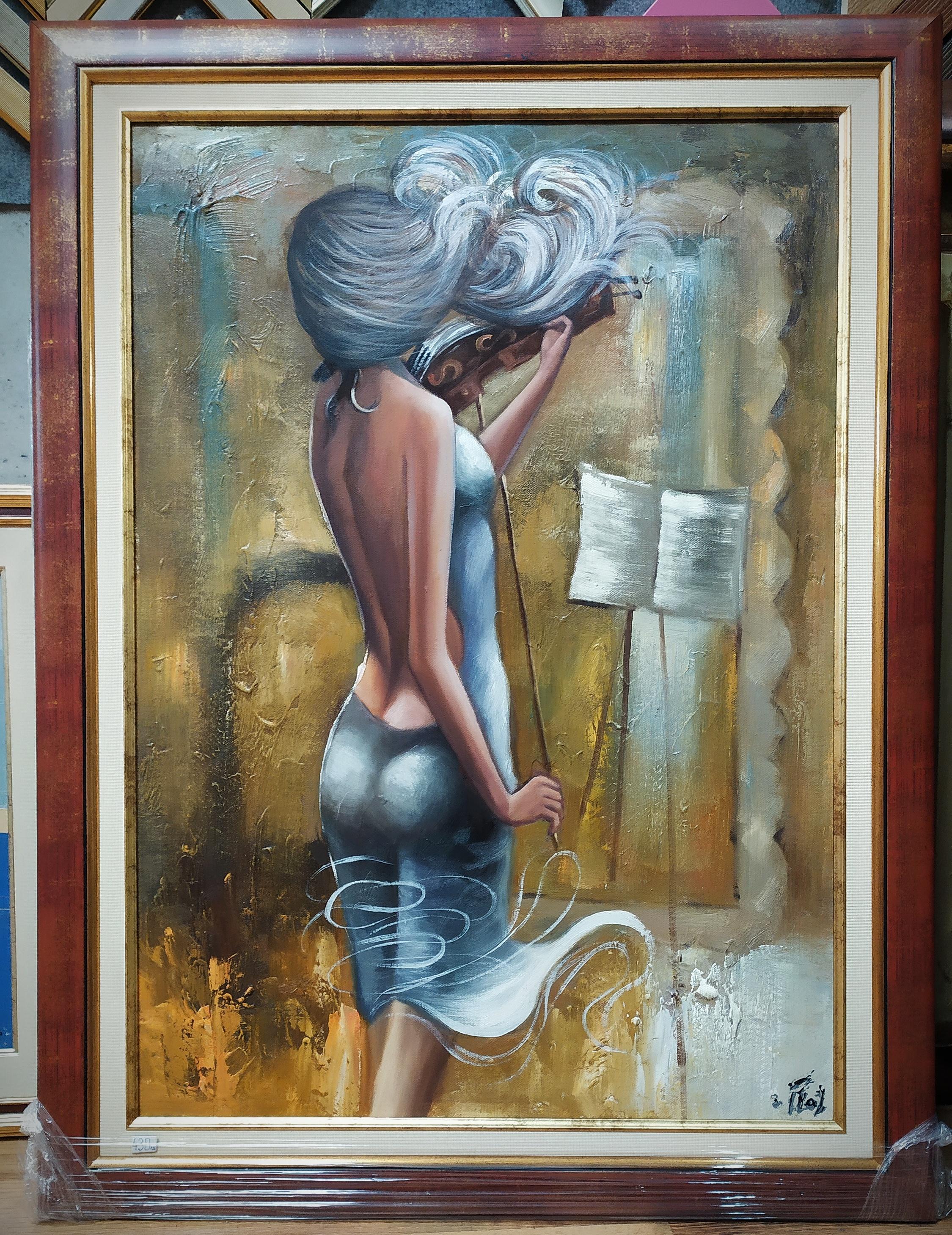 """Маслена картина """"Преследвайки страстно мечтите си"""" – Георги Петров"""